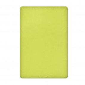 Едноцветен долен чаршаф в зелено, размер 240/260 см., материя Ранфорс