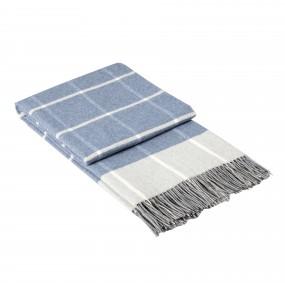 Модерно одеяло в СВЕТЛО СИНЬО каре - ОНТАРИО, размер 140/200 см