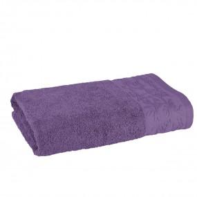 Качествена хавлиена кърпа в лилаво - КАЗАБЛАНКА, размер 70/140 см