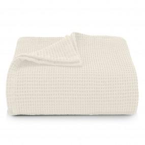 Памучна Покривка за Легло в Екрю - СИЕСТА,100% Памук, 220/230 см.