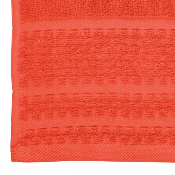 Коралов цвят хавлиена кърпа с бамбукови влакна ЛЕТЕН БАМБУК, размер 50х90 см