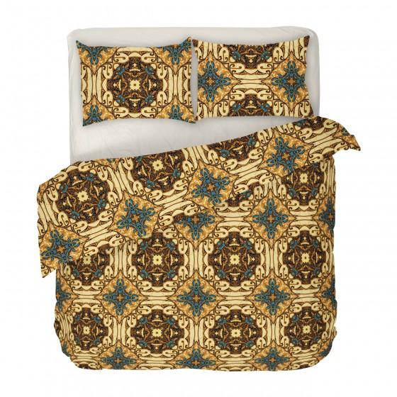 Двоен размер спално бельо в БОХО стил с един плик - ГОТИК, Интересен дизайн и висикокачествена материя Ранфорс двоен спален комплект Готик